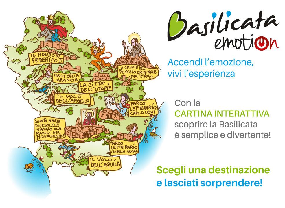 Cartina Basilicata.Basilicata Grandi Attrattori Comunicazione E Illustrazione Pluralecom